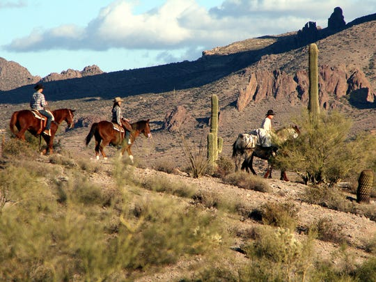 Ride through the legendary Superstition Mountains and