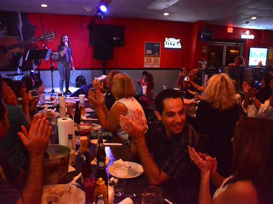 "The audience applauds after the song ""Creep."" Gianna"