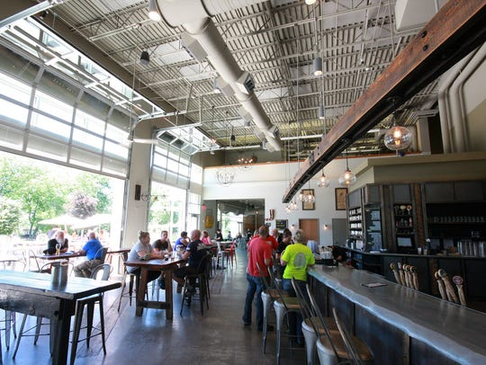 The interior of Arcadia Brewing Co. in Kalamazoo
