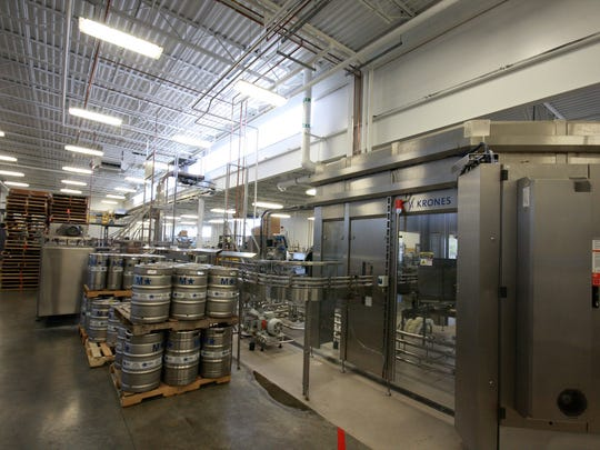 A view of the production room at Arcadia Brewing Co.