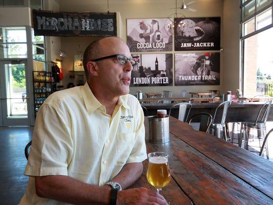 Tim Suprise at Arcadia Brewing Co. in Kalamazoo.