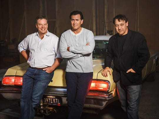 Rob Tapert, Bruce Campbell and Sam Raimi with the familiar