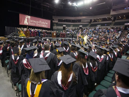 Thomas Edison State University celebrated its 44th Commencement on Saturday, Sept. 24, at the Sun National Bank Center in Trenton. TESU's class of 2016 includes 3,059 graduates, 481 of which attended the ceremony with friends and family.