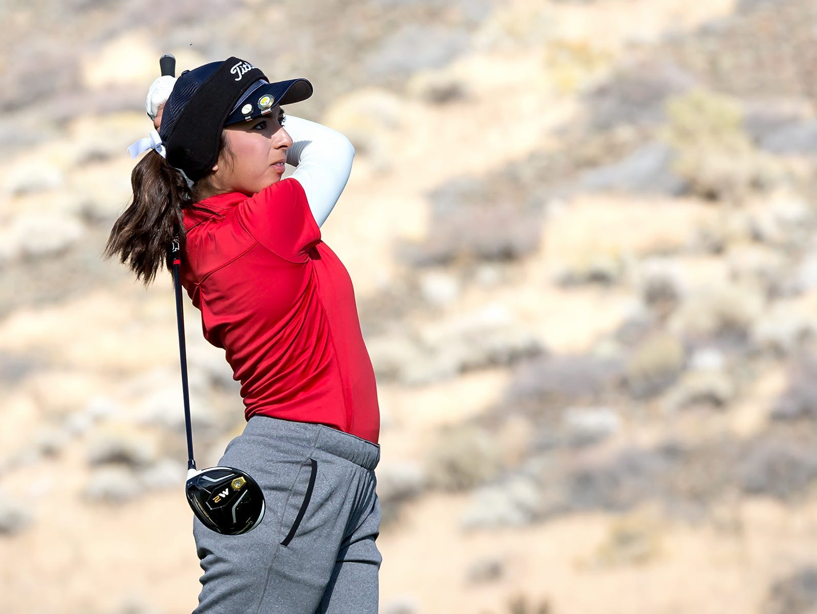 Victoria Estrada from Coronado won the 4A girls golf state title Tuesday