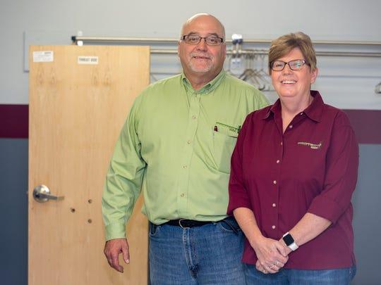 Protect Door, LLC owners Alan and Deb Deiler, Oct. 18, 2016.