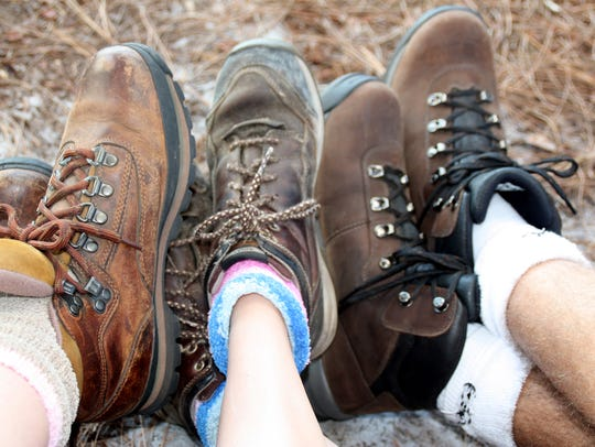 Lace up a sturdy pair of shoes before you hit a Grand Canyon trail. Sandals won't cut it.