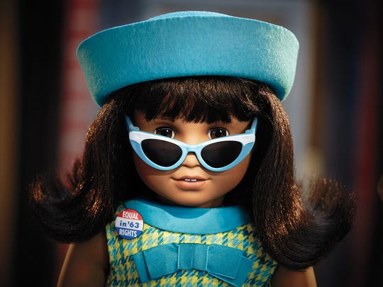 From American Girl, the doll Melody Ellison, which debuted in August 2016, is in the Be Forever historical line, and her story is set in Detroit in the mid-1960s. It is framed around Motown and the civil rights movement.