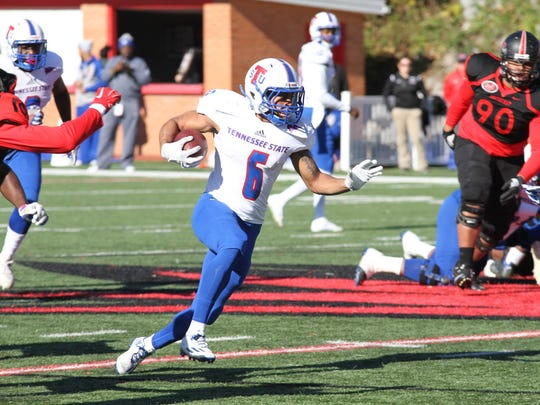 Freshman Earl Harrison rushed for more yards (168) than any Tennessee State back this season in the Tigers' 32-31 win Saturday at Southeast Missouri.