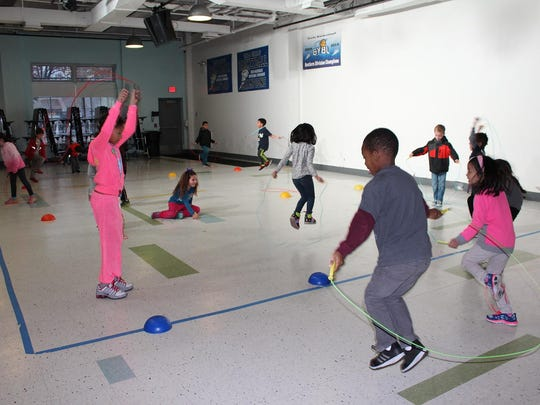 The Teaneck Community Charter School participates in Jump Rope for Heart.