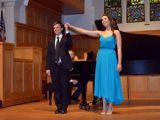 Soprano Nadine Sierra with pianist Bryan Wagorn in her Matinee Musicale recital, held at Westwood  First Presbyterian Church.