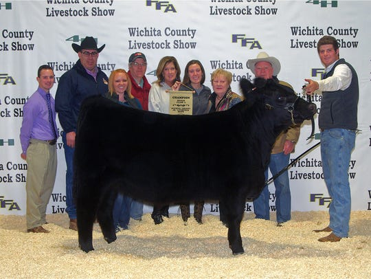 Wichita County Junior Livestock Show. The Grand Champion