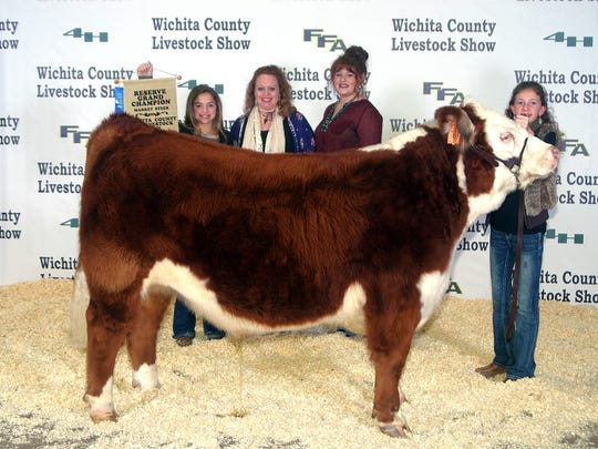 Wichita County Junior Livestock Show. The Reserve Champion Steer was shown by Jaden Kindt of Burkburnett FFA. The buyer was Switchhouse Ranch, Joe Howard Williamson. Photos courtesy of Dwayne Peirce.