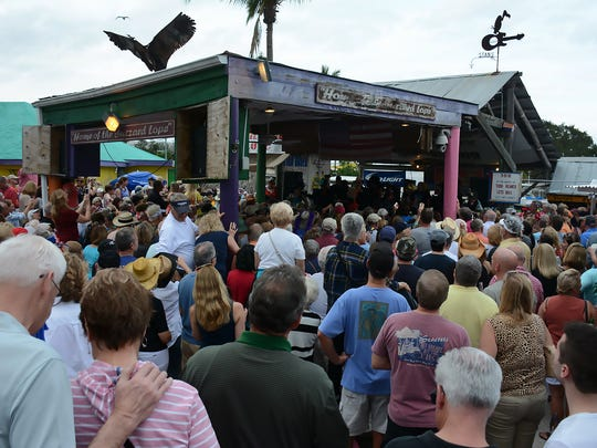 A massive crowd watched the contestants do their dance moves. The Mullet Festival and the Buzzard Lope dance contest returned to Stan's Idle Hour in Goodland for the 32nd year on Sunday, Jan. 31, 2016.