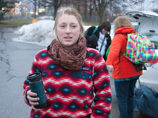 Anna Seifert of Marshall joined her mother in boarding a bus Friday to participate in the Women's March on Washington this weekend.