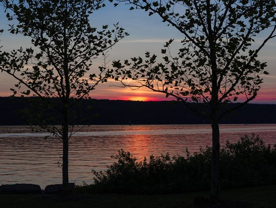 Diane Duthie's photo of a Cayuga Lake sunset. Her pictures