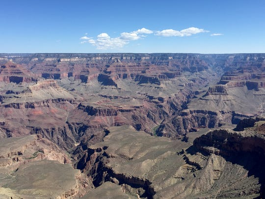 A view of the Grand Canyon from Mather Point.
