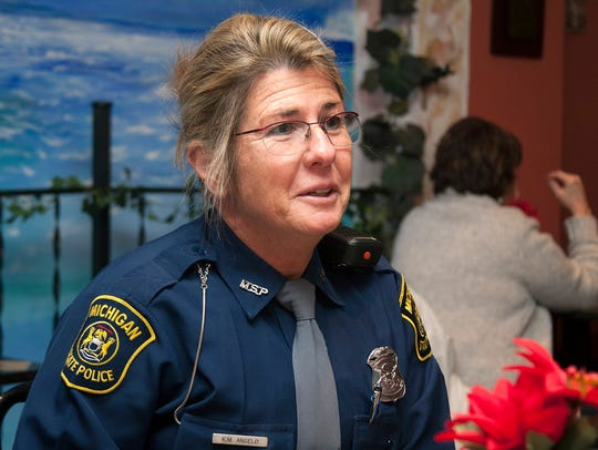 Michigan State Trooper Kristi Angelo talks about the