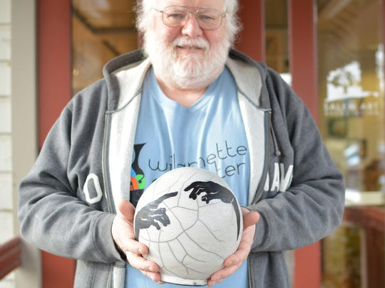 Jim Ransom has created five commemorative clay balls