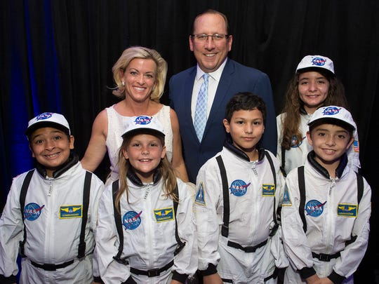Debbie & John Textor with Jr. Astronauts