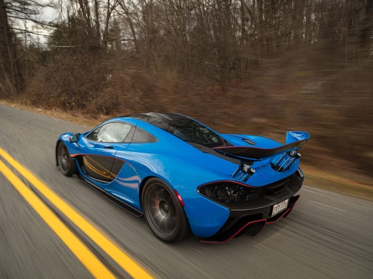 The McLaren P1 will be auctioned March 10.