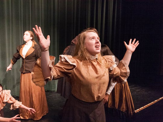 Madd Smith, 16, plays her part during Tintypes for Olivet High School Theatre
