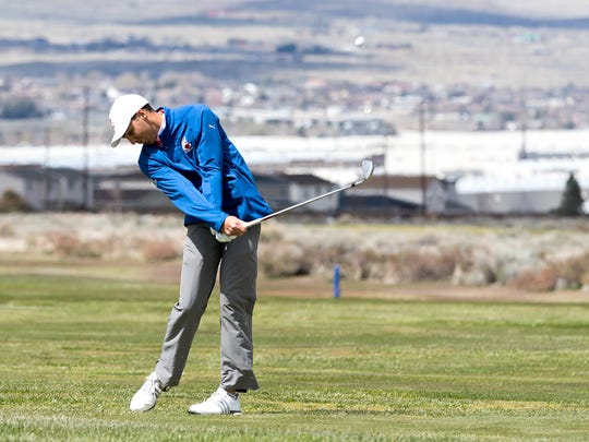 Reno's Josh Fleiner plays golf last year at Sierra Sage.