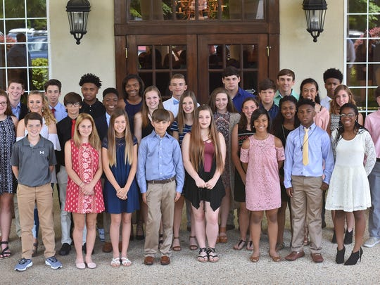 Junior high honorees at the 23rd Annual Scholar Athlete Awards