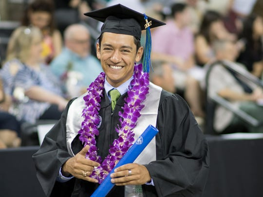 Zach Baltazar was one of over 1,100 graduates who received
