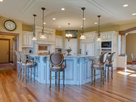 The kitchen is a gathering place at 3547 Wildflower Road S in St. Cloud.