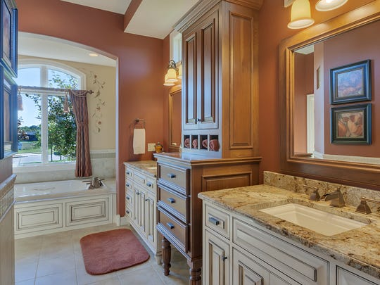 The master bath at 3547 Wildflower Road in St. Cloud.