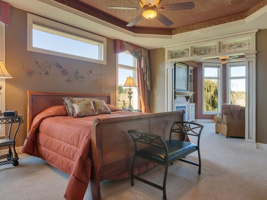 The master bedroom at 3547 Wildflower Road in St. Cloud.
