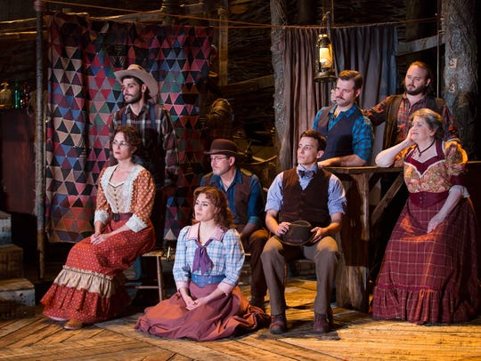 """The ensemble of """"The Ballad of Little Jo"""" at Two River"""