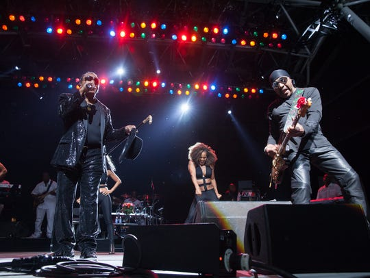 The Isley Brothers performs at Summerfest's BMO Harris