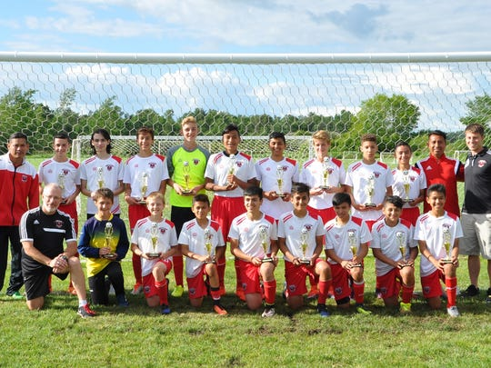 Fondy's U14 Boys State Premier team finished first at the PCYS Classic in Stevens Point. Players include Andy Cortes, Devin Cruz, Braden Gerritson, (Brock Gerritson, not at tournament), Carson Kelly, Jonah Krueger, Leo Lara, Ethan Letkewicz, Eric Lopez, Jonathan Morales, Nick Riley, Dante Santana, Justin Scherberl, Sawyer Thompson, Jose Torres, and Carlos Valdivia; along with guest players Dylan Schroeder and Gael Valdovinos. Head Coach Dave Moehn is supported by Assistant Coaches Felix Cruz, Juan Lara and Jordan Moehn.