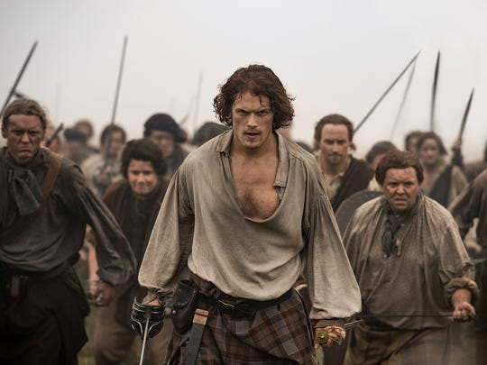 Sam Heughan as Jamie Fraser in Starz's 'Outlander.'