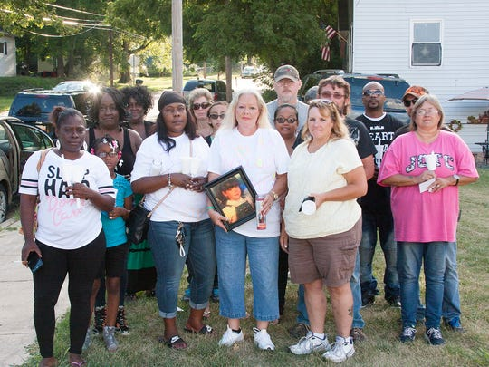 Members of the commuity marched Saturday, Aug. 12  against any parole for Jason Symonds.