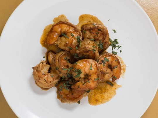 This barbecue shrimp is the perfect tangle of salty,