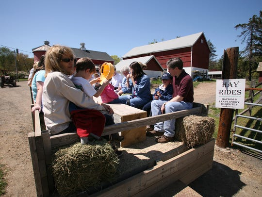 Novice trail rides and hay rides are available at Lord