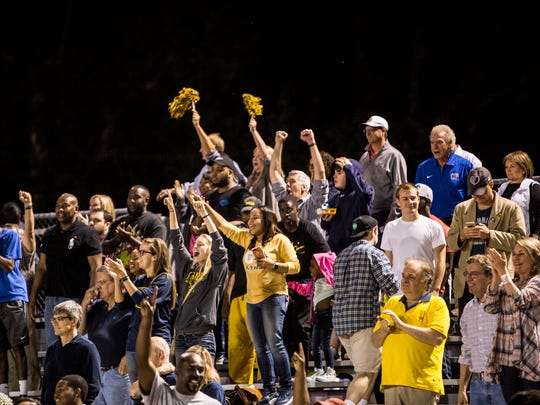September 08, 2017 - Lausanne celebrates after defeating Whitehaven after Friday night's game at Whitehaven High School. Lausanne topped Whitehaven 14-7.