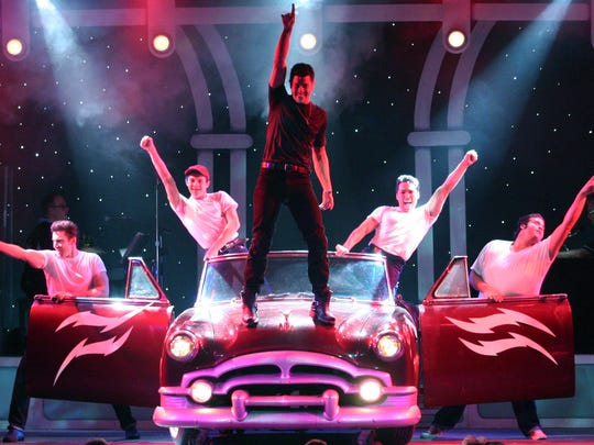 """The T-Birds perform in The Broadway Palm's """"Grease"""" in 2012."""