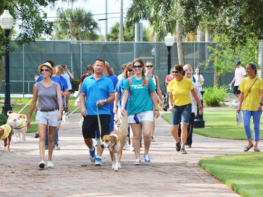 A walk around Memorial Park is part of the fun during