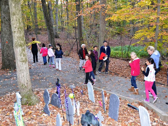 Trail Tales takes visitors on a mildly spooky walk