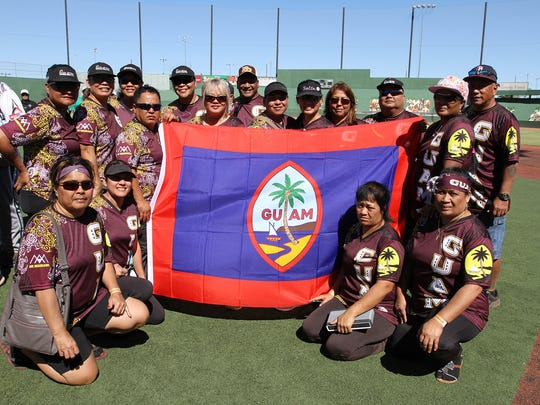 Guam masters softball Team Sotta was one of five Guam squads honored by the United States Senior Softball Association Oct. 7 in Las Vegas, Nevada, during the 2017 U.S. Senior Softball World Masters Championship. Guam was ceremoniously recognized with sportsmanship trophies, marking an historic honor by the senior softball association.