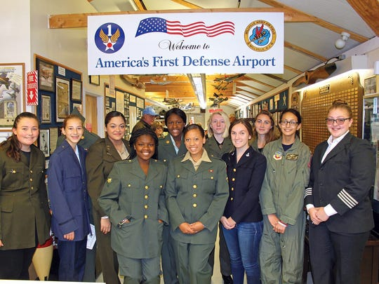 Millville Senior High School student re-enactors who participated in Millville Army Air Field Museum's Veterans Appreciation Day 2016 at Millville Airport.