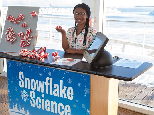 You'll be able to learn all about the science of snowflakes at Discovery Word's Snow Day.