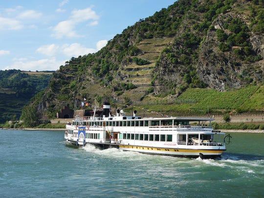The Rhine River is best experienced while relaxing