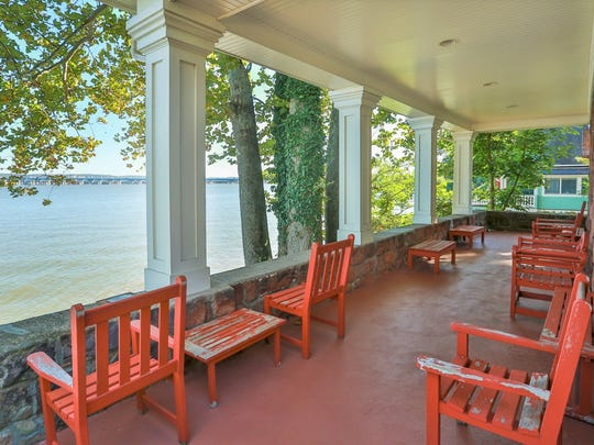 View from the porch at a property owned by Rosie O'Donnell at 1 Washington Avenue in South Nyack
