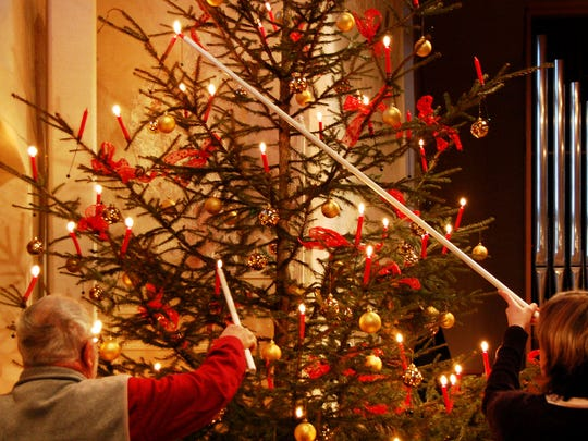 In Switzerland, some families still use real candles to adorn their Christmas tree.