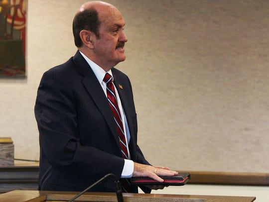 New Cedar City Councilman R. Scott Phillips holds a