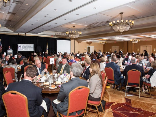 The business community gathered at a recent Outstanding